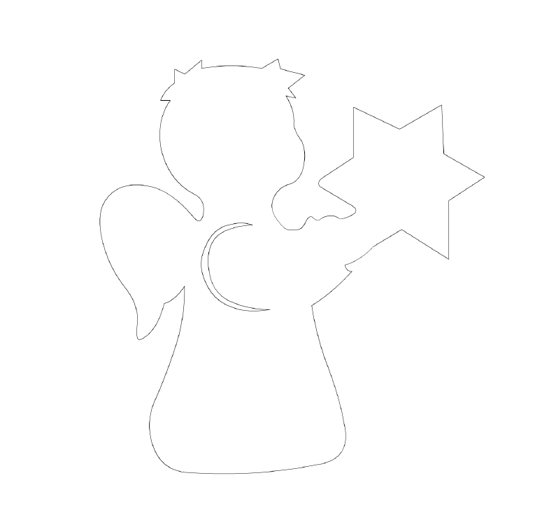 Шаблоны ангелов для открытки