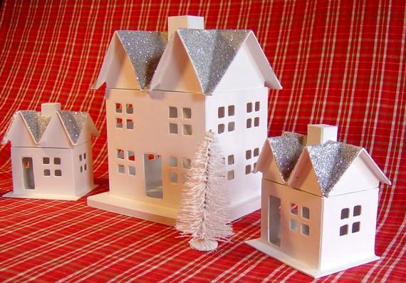 Домик из картона новогодняя своими руками