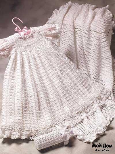 Ажурные платья для маленьких спицами