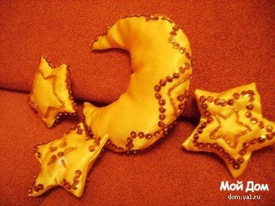 """Самодельные новогодние игрушки """"Звезды и луна"""" """" Мой дом. Креативные идеи и рецепты для всей семьи."""