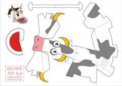 Символ 2009 года - Бычок из бумаги