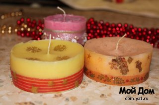 Подарок на Новый год - свечи