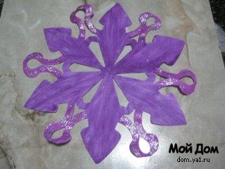 Мои фиолетовые снежинки