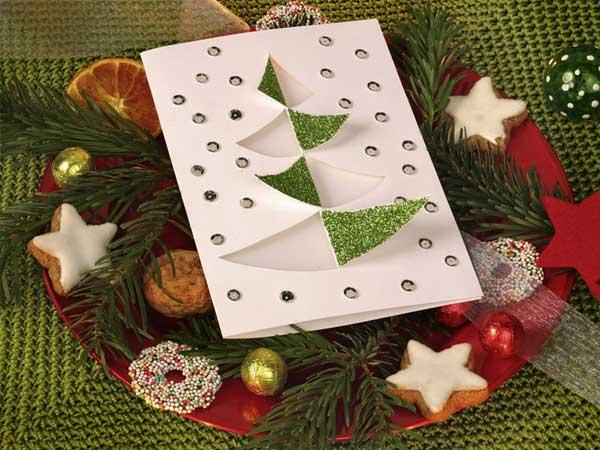 Поздравительная открытка «Мерцающая елка»