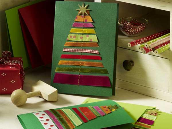 Идеи открыток ручной работы к Новому году и Рождеству