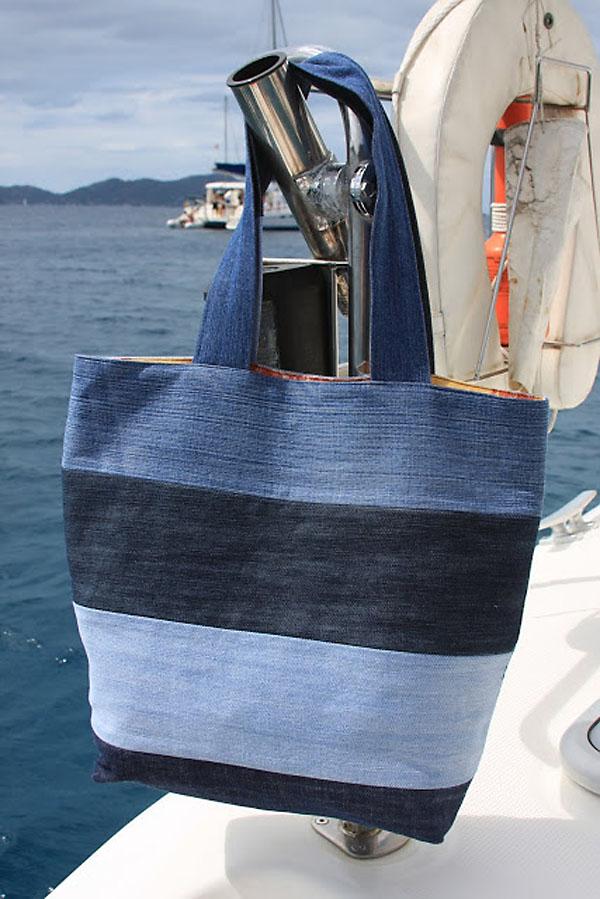 Пляжная сумка из джинсов своими руками фото