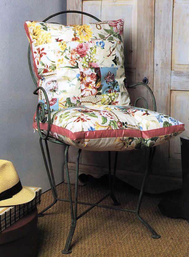 Как сшить круглую подушку на стул 46