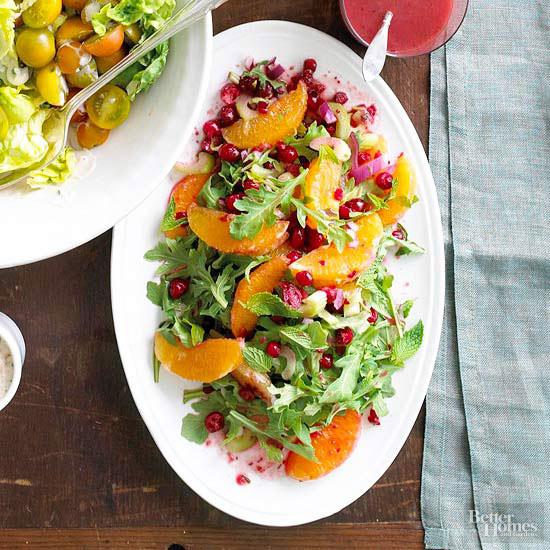 Свежий цитрусовый салат с клюквой | domcreative.ru