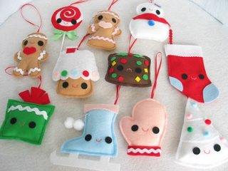 Елочные игрушки из войлока